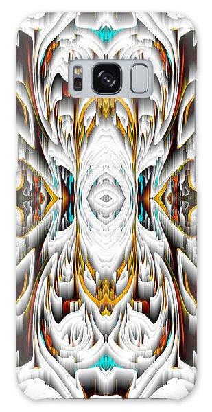 Galaxy Case featuring the digital art 992.042212mirror2ornateredagold-1a-1 by Kris Haas