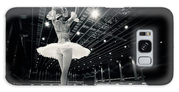 Galaxy Case featuring the photograph A Beautiful Ballerina Dancing In Studio by Dimitar Hristov