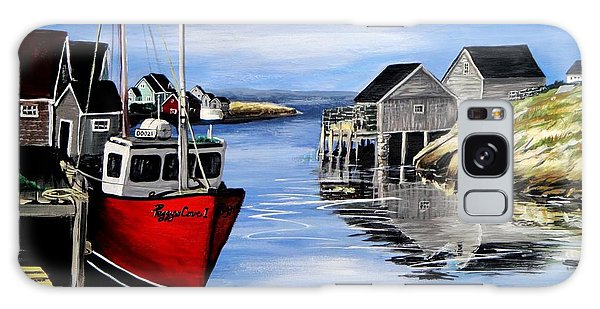 A Beautiful Day At Peggy's Cove  Galaxy Case