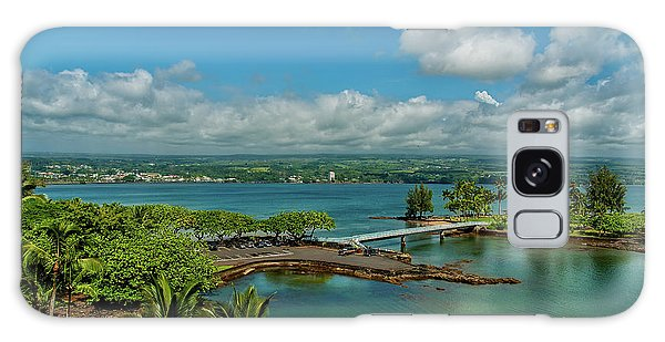 A Beautiful Day Over Hilo Bay Galaxy Case