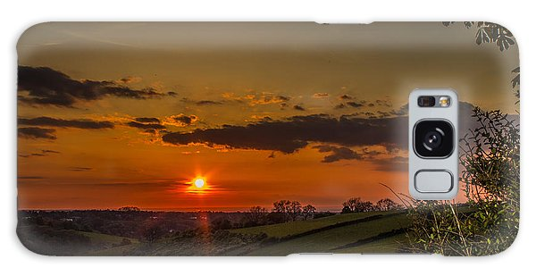 A Beautiful Sunset Over The Surrey Hills Galaxy Case