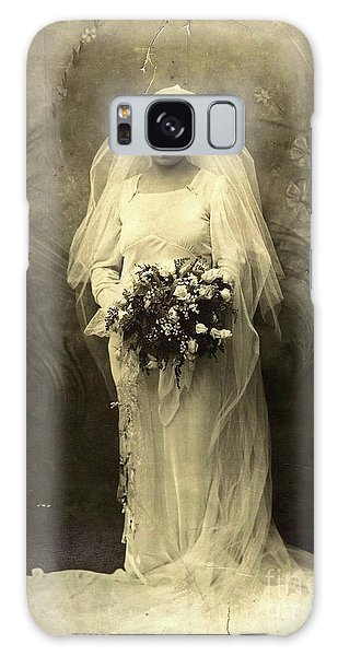 A Beautiful Vintage Photo Of Coloured Colored Lady In Her Wedding Dress Galaxy Case by R Muirhead Art