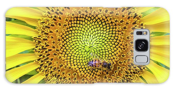 A Bee On A Sunflower Galaxy Case