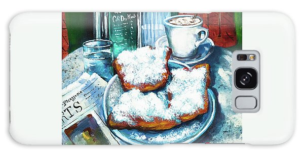 A Beignet Morning Galaxy Case by Dianne Parks