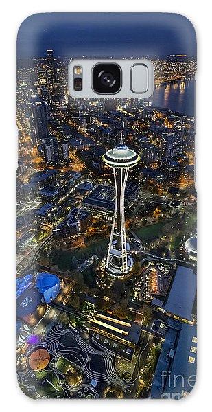 A Birds-eye View Of Seattle Galaxy Case by Roman Kurywczak