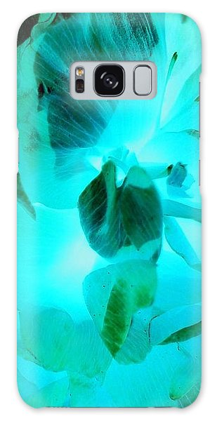 A Bloom In Turquoise Galaxy Case