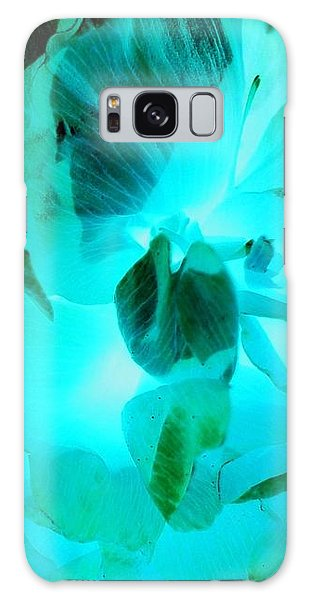 Galaxy S8 Case - A Bloom In Turquoise by Orphelia Aristal