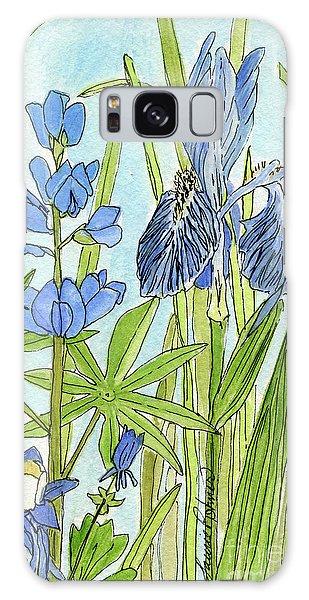 A Blue Garden Galaxy Case