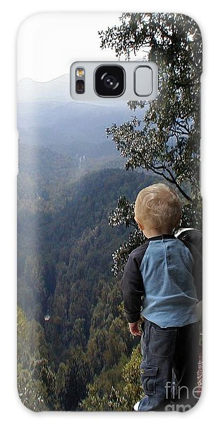 A Boy And His Dog Galaxy Case by Robert Meanor