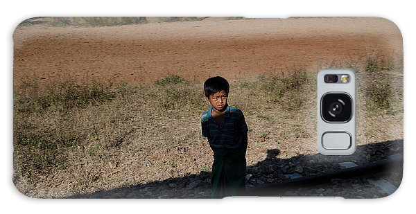 A Boy In Burma Looks Towards A Train From The Shadows Galaxy Case