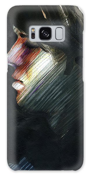 Galaxy Case featuring the painting A Boy Named Rainbow by Rene Capone
