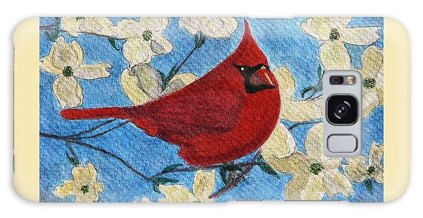 A Cardinal Spring Galaxy Case by Angela Davies
