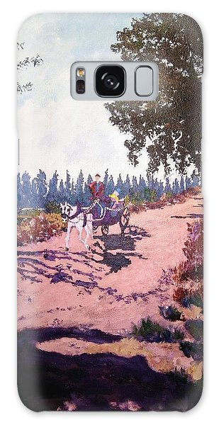 Galaxy Case featuring the painting A Carriage And A Horse by Ray Khalife