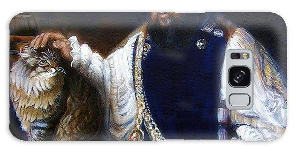 A Cat For Rembrandt_ Aristotle Caresses Calliope Galaxy Case