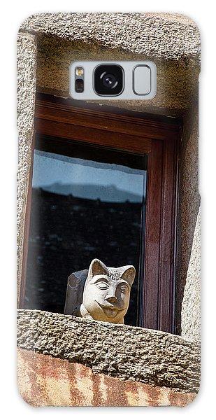 A Cat On Hot Bricks Galaxy Case