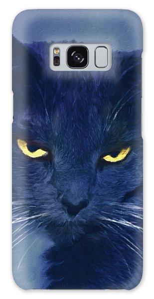 A Cat's Dark Night Galaxy Case