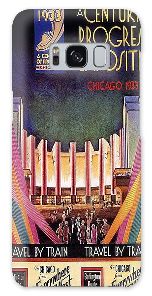 Vintage Chicago Galaxy Case - A Century Of Progress - Vintage Exposition Poster - Chicago by Studio Grafiikka