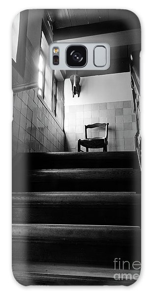 A Chair At The Top Of The Stairway Bw Galaxy Case by RicardMN Photography