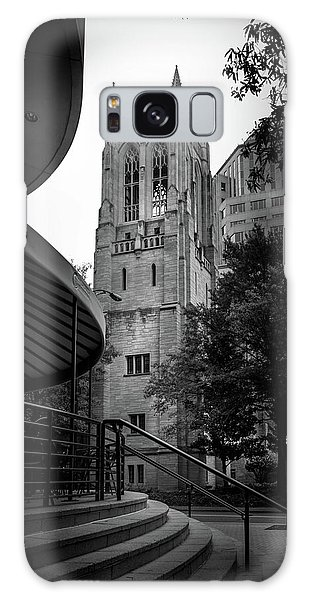 A Charlotte Church Tower In Black And White Galaxy Case