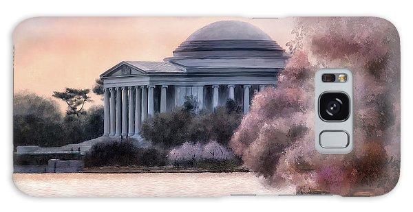 A Cherry Blossom Dawn Galaxy Case by Lois Bryan