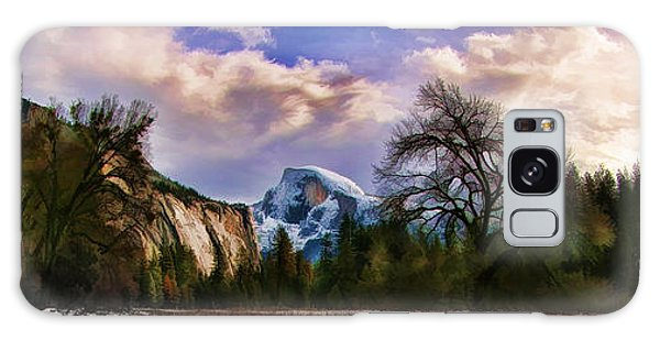 A Cold Yosemite Half Dome Morning Galaxy Case