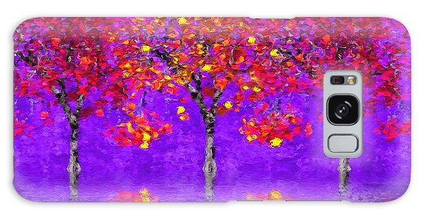 A Colorful Autumn Rainy Day Galaxy Case