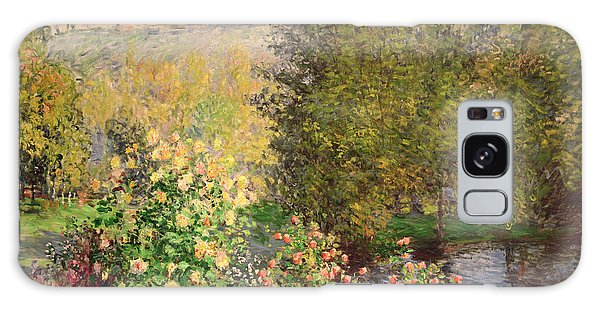 Foliage Galaxy Case - A Corner Of The Garden At Montgeron by Claude Monet