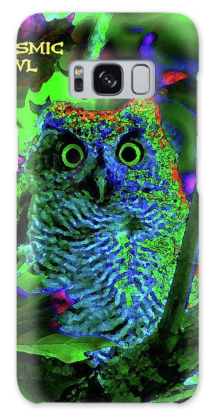A Cosmic Owl In A Psychedelic Forest Galaxy Case
