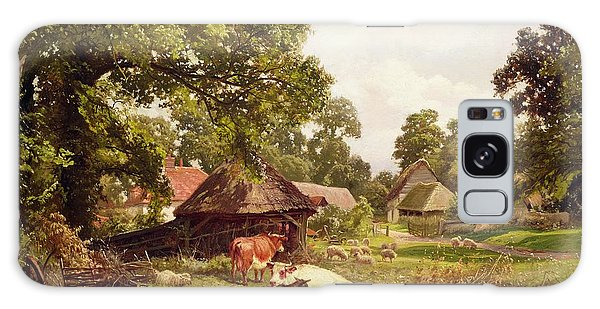 A Cottage Home In Surrey Galaxy Case by Edward Henry Holder