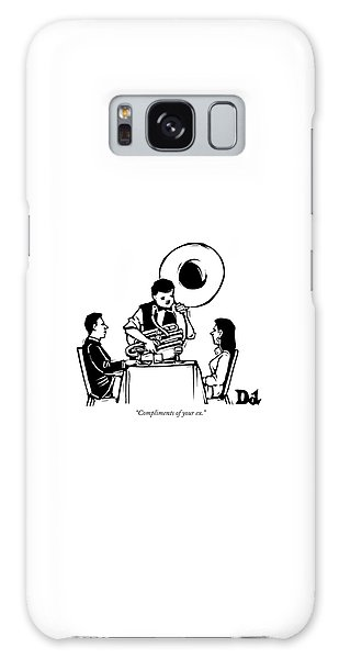 A Couple Seated At A Restaurant Face A Man Who Galaxy Case