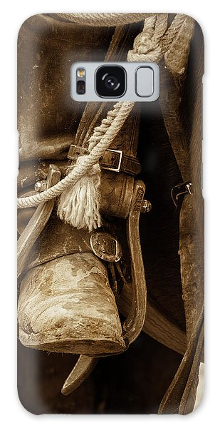 Galaxy Case featuring the photograph A Cowboy's Boot by Jeanne May