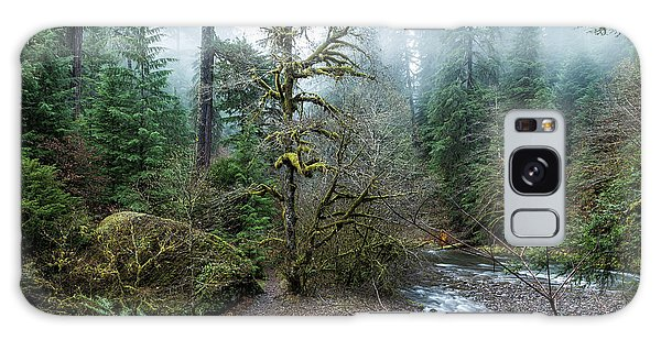 Galaxy Case featuring the photograph A Creek Runs Through It by Belinda Greb