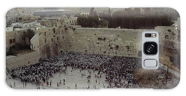 World Religion Galaxy Case - A Crowd Gathers Before The Wailing Wall by James L. Stanfield