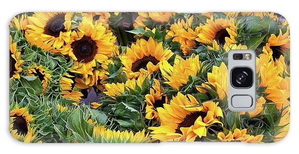 A Crowd Of Sunflowers Galaxy Case by Susan Cole Kelly