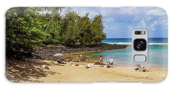 A Day At Ke'e Beach Galaxy Case