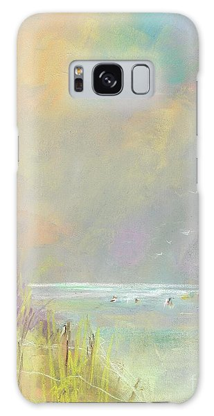 A Day At The Beach Galaxy Case by Frances Marino