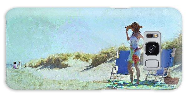 A Day At The Beach Galaxy Case