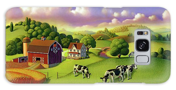 A Day On The Farm  Galaxy Case by Robin Moline