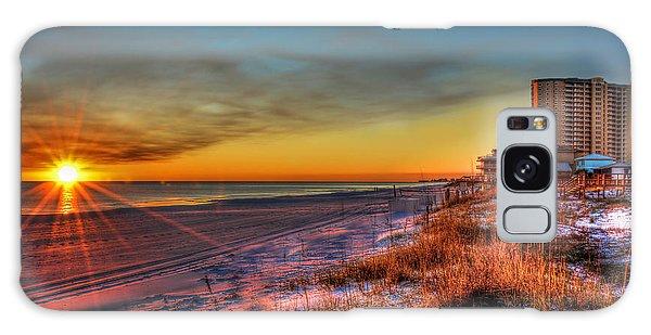 A December Beach Sunset Galaxy Case