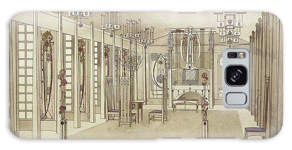 Decorative Galaxy Case - A Design For A Music Room by Charles Rennie Mackintosh