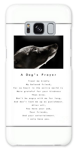 A Dog's Prayer In White  A Popular Inspirational Portrait And Poem Featuring An Italian Greyhound Galaxy Case