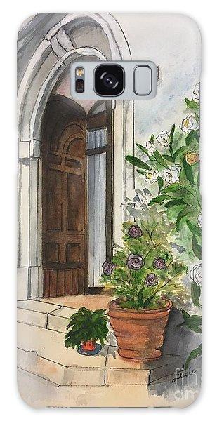 A Door In Castellucco, Italy Galaxy Case