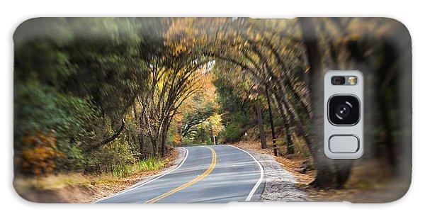 A Fall Roadway Galaxy Case
