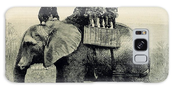 Engraving Galaxy Case - A Farewell Ride On Jumbo From The Illustrated London News by English School