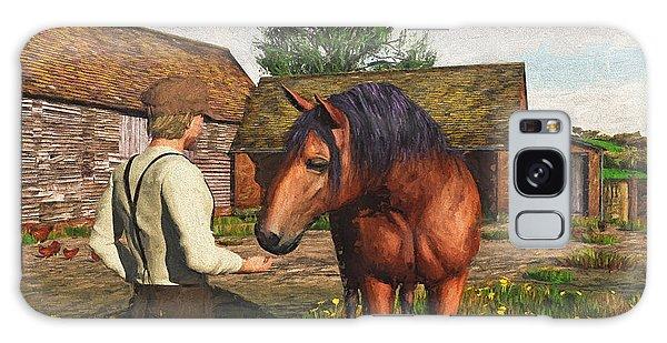 A Farmer And His Horse Galaxy Case