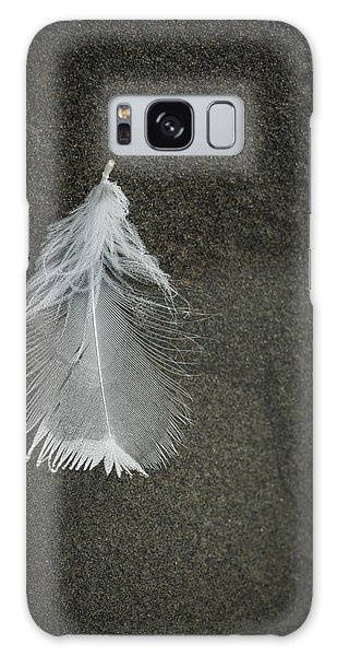 A Feather At The Edge Of The Water Galaxy Case