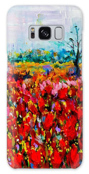 A Field Of Flowers # 2 Galaxy Case