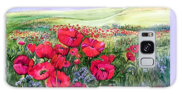 A Field Of Poppies Galaxy Case