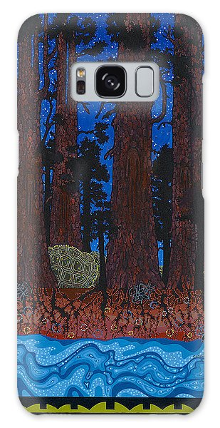Galaxy Case featuring the painting A Forest Whispers by Chholing Taha