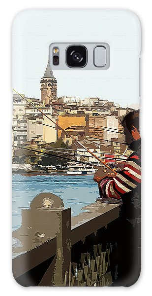 A Fisherman In Istanbul Galaxy Case